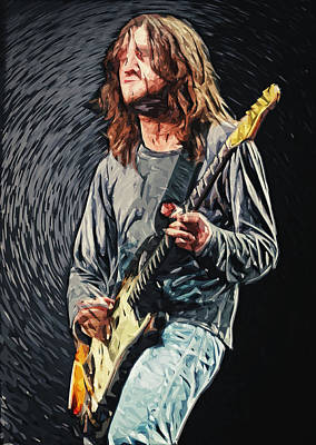 Musicians Digital Art - John Frusciante by Taylan Apukovska