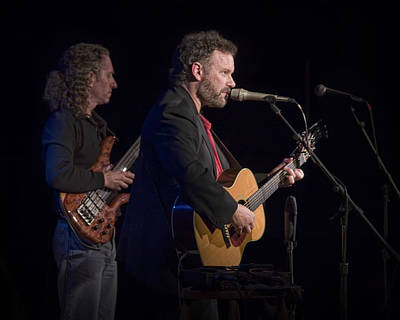 Folk Singer Photograph - John Gorka And Michael Manring In Concert by Randall Nyhof