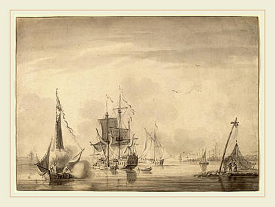John Greenwood, Harbor Scene, American, 1727-1792 Art Print by Litz Collection