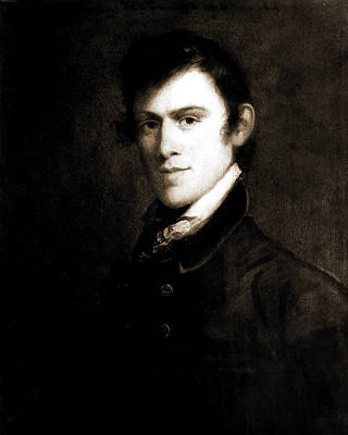 Grime Drawing - John Grimes, Head-and-shoulders Portrait, 1812 by Litz Collection