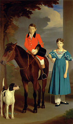 Newton Painting - John Gubbins Newton And His Sister, Mary Newton by Litz Collection