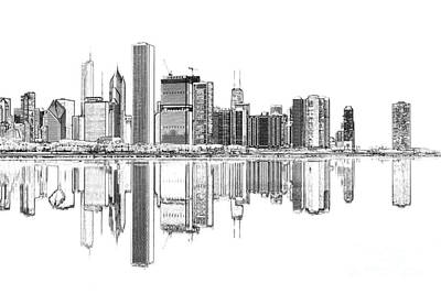Chicago River Digital Art - John Hancock Chicago by Dejan Jovanovic