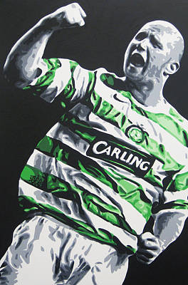 Painting - John Hartson - Celtic Fc by Geo Thomson