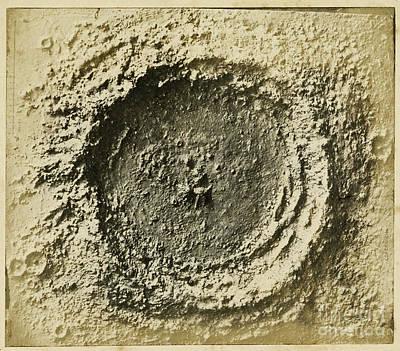 Papier Mache Photograph - John Herschels Moon Crater C.1850s by Getty Research Institute
