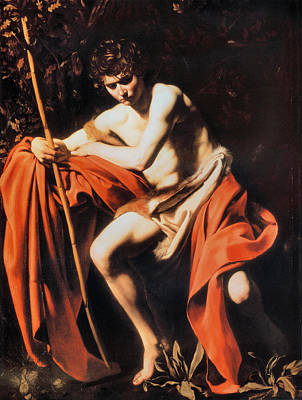 Caravaggio Painting - John In The Wilderness by Michelangelo Caravaggio