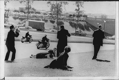 Assassination Photograph - John Kennedy Assasination Newswire Photo Dallas by Retro Images Archive