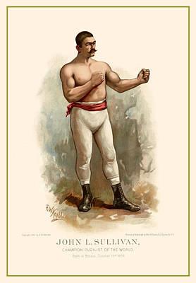Digital Art - John L. Sullivan Boxer by Gary Grayson
