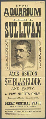John L. Sullivan Art Print by British Library