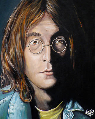 John Lennon 2 Print by Tom Carlton