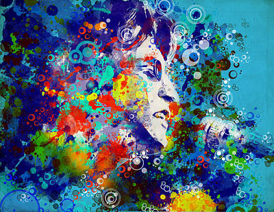 Beatles Digital Art - John Lennon 3 by Bekim Art