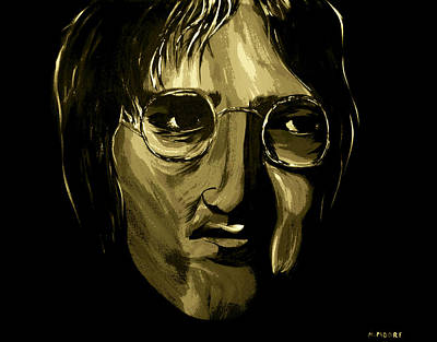 John Lennon 4 Art Print by Mark Moore