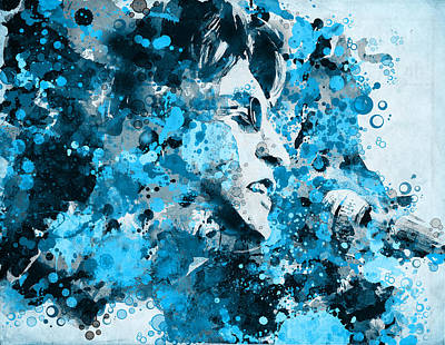 Beatles Digital Art - John Lennon 5 by Bekim Art