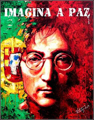 Painting - John Lennon - A Man Of Peace And The World. Portugal by Vitaliy Shcherbak
