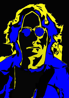 John Lennon Abstract  Print by Steve K