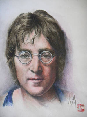 Painting - John Lennon by Alan Kirkland-Roath