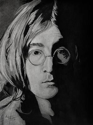 John Lennon Portrait Drawing - John Lennon by Andres Delgado