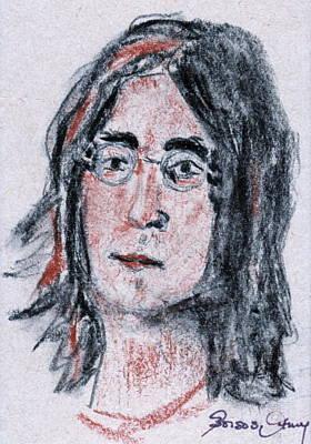 Strawberry Fields Drawing - John Lennon  by Anna Ruzsan