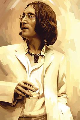 Lennon Painting - John Lennon Artwork 2 by Sheraz A