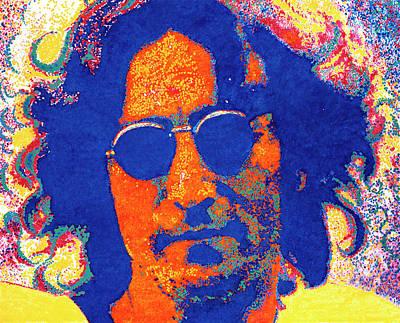 New York City. John Lennon Portrait Painting - John Lennon by Barry Novis