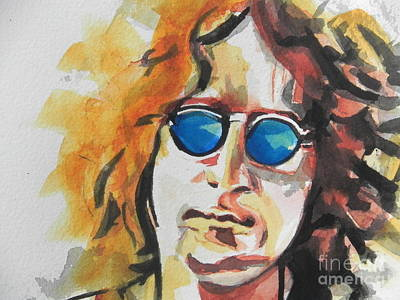 Painting - John Lennon 03 by Chrisann Ellis