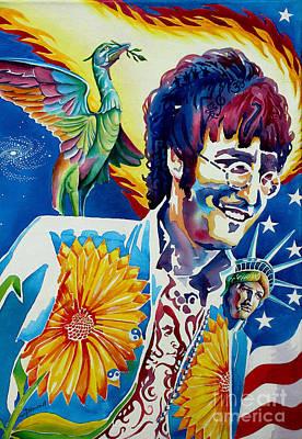 John Lennon Print by Debbie  Diamond
