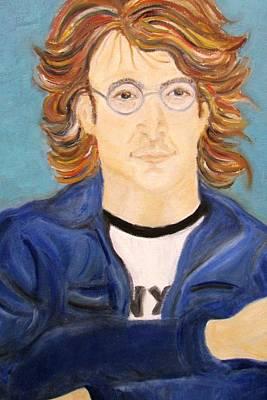 Painting - John Lennon by Debby Reid