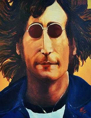 Painting - John Lennon   by Edward Pebworth