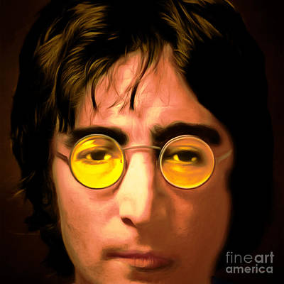 Flower Child Digital Art - John Lennon Imagine 20150305 Square by Wingsdomain Art and Photography