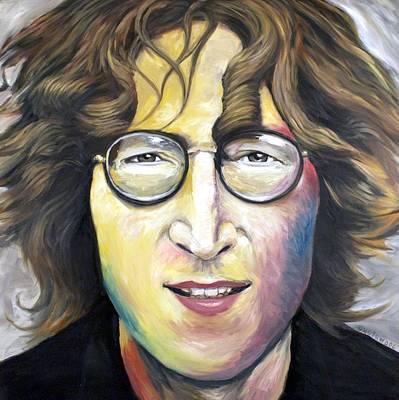 Painting - John Lennon Imagine by Mike Underwood