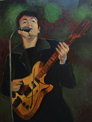Painting - John Lennon In Performance by Suzanne Cerny