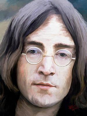 John Lennon Art Print by James Shepherd