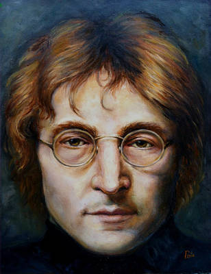 John Lennon Print by June Ponte