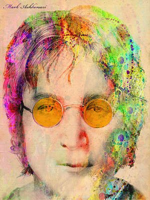Famous People Digital Art - John Lennon by Mark Ashkenazi