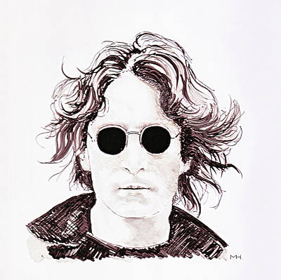 Drawing - John Lennon by Martin Howard