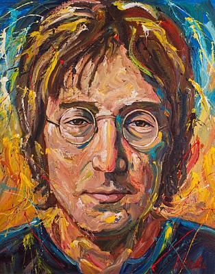 Lennon Painting - John Lennon by Michael Wardle