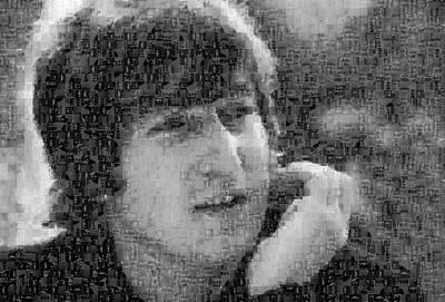 John Lennon Mosaic Image 10 Art Print by Steve Kearns