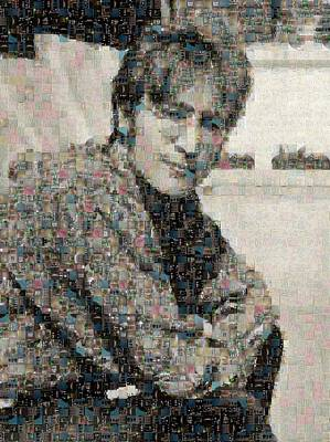 Sergeant Pepper Digital Art - John Lennon Mosaic Image 2 by Steve Kearns