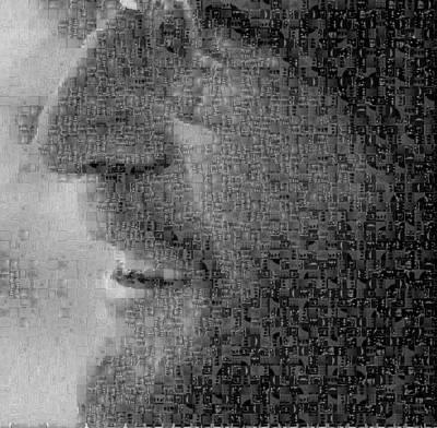 John Lennon Mosaic Image 5 Art Print by Steve Kearns