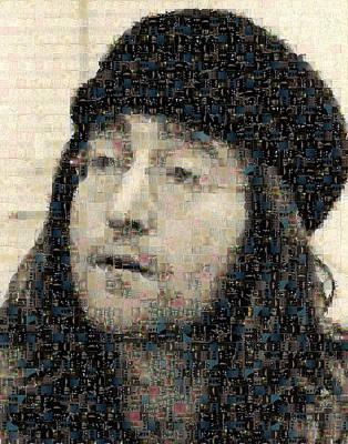 John Lennon Mosaic Image 7 Art Print by Steve Kearns