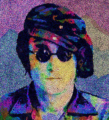 Yoko Ono Painting - John Lennon Mosaic by Jack Zulli