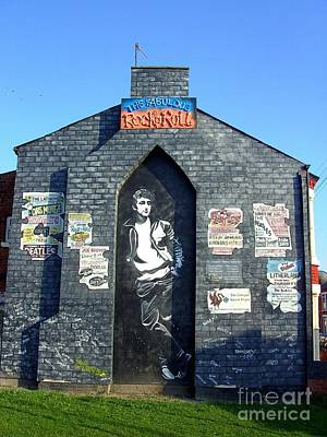 Sergeant Pepper Photograph - John Lennon Mural Liverpool Uk by Steve Kearns