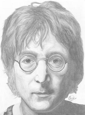 John Lennon Art Print by Olivia Schiermeyer