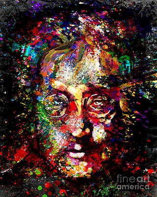 Mccartney Mixed Media - John Lennon Painting Art Print by Ryan Rock Artist