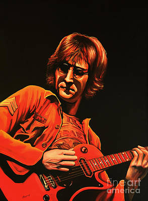 The Beatles Painting - John Lennon Painting by Paul Meijering
