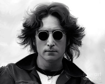 Abbey Road Painting - John Lennon by Paul Tagliamonte