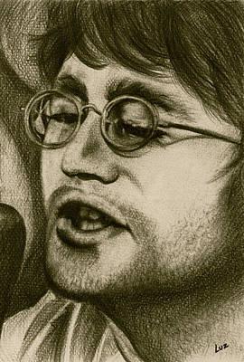 John Lennon Art Drawing - John Lennon Portrait by Amazingart Art