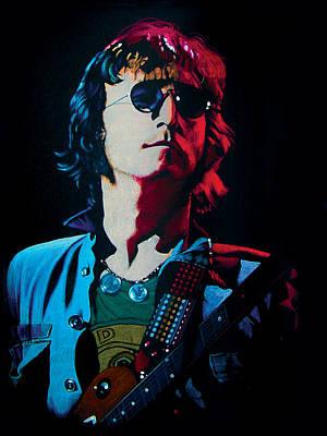 Strawberry Fields Drawing - John Lennon Portrait by Robert Korhonen