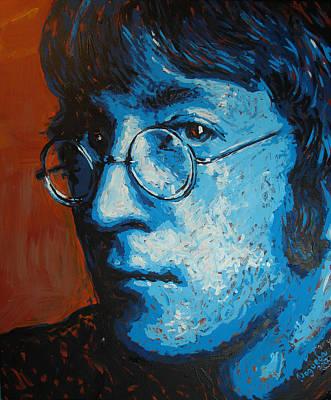 Jhon Painting - John Lennon Portrait Three by Erick Nogueda