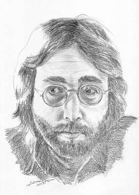 John Lennon Portrait Drawing - John Lennon by Salman Ameer