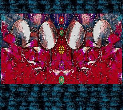 Abstract Seascape Mixed Media - John Lennon Temple by Pepita Selles